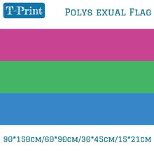 Free shipping 60*90cm 30*45cm 15*21cm Banner Flying 150*90cm Flag Polysexual Pride For Party Bar LGBT