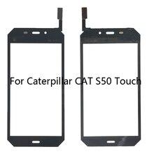 4.7 بوصة الهاتف المحمول شاشة تعمل باللمس ل القط S50 شاشة تعمل باللمس الزجاج لوحة مرقمة الزجاج الأمامي الاستشعار لمس أدوات