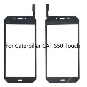 Image 1 - 4.7 pollici Del Telefono Mobile Dello Schermo di Tocco Per Il Gatto S50 Touch Screen In Vetro Digitalizzatore Sensore di Vetro del Pannello Frontale TouchScreen Strumenti