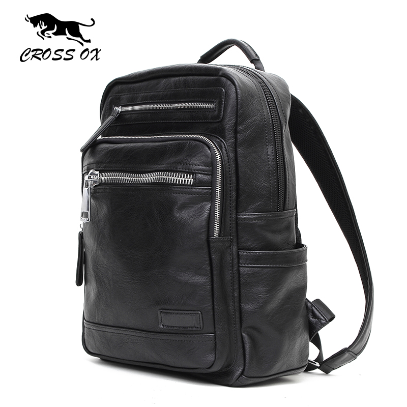 CROSS OX 2017 New Arrival Mens Backpacks PU Racksacks For Men and Women School Bags Casual Style Shoulder Bags For Gift BK030M