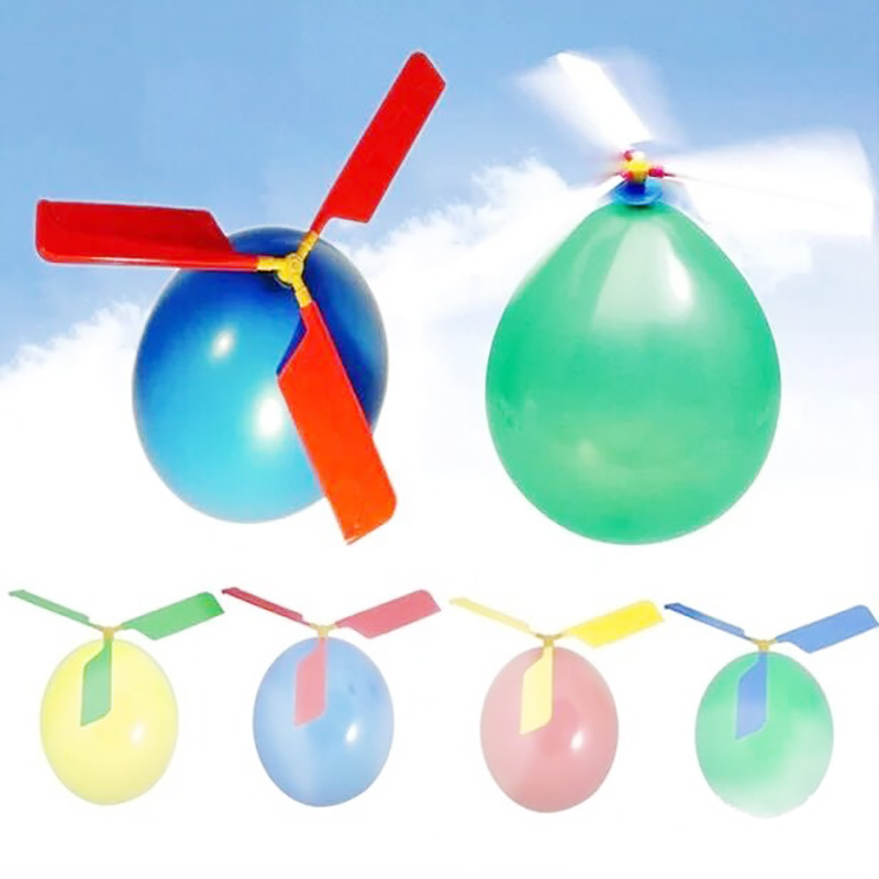 1Set Classic Children Flying Toy Balloon Airplane Helicopter For Kids Gift Outdoors toys Educational Toys Free Shipping image