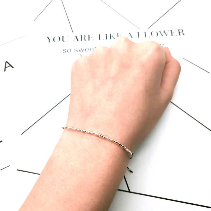 Simple Handmade Miyuki Bead Bracelet Popular Love Cute Friendship Gifts Woman Dropshipping Delica Rope Drawstring Bracelets