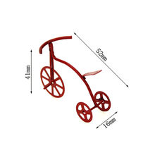 1:12 Dollhouse Mini Wooden Baby Bicycle Miniature Bike Decoration Furniture Folding Cycling Car DIY Doll Houses Accessories(China)