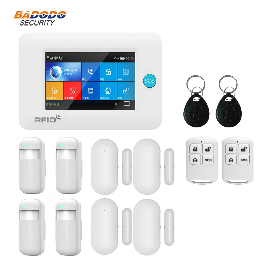 Dual network Wireless WiFi 3G GSM GPRS intelligent home Alarm system 4.3 inch Touch Screen for smart Home Security monitor alarm-in Alarm System Kits from Security & Protection    3