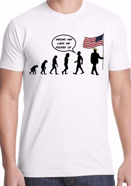 60aa58a74e 2019 New fashion Funny Clothing Casual Short Sleeve T-shirts Donald trump  USA election funny humor anti america comedy T shirt