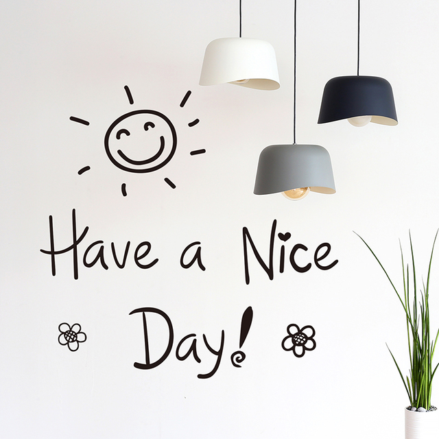 Shijuehezi Have A Nice Day Wall Stickers Creative Diy Quotes Wall