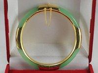 Natural gema Verde Escuro 925 Articulada Pulseira pedra de Quartzo Menina De Casamento HOMENS De Quartzo para as mulheres de jóias de prata esterlina