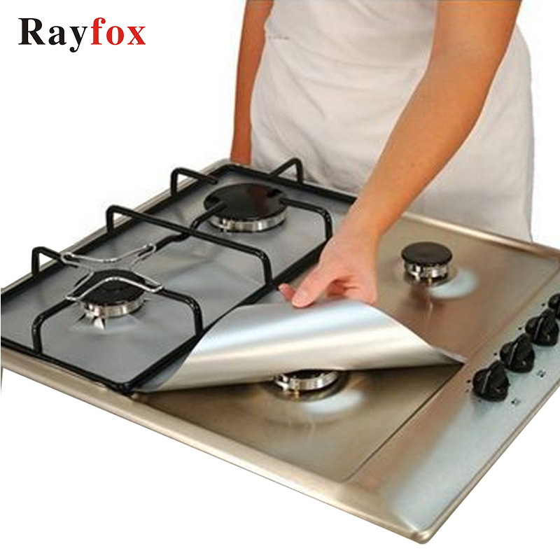 Rayfox gas stove protectors 1pc reusable gas stove burner cover liner mat fire injuries protection kitchen accessories gadgets