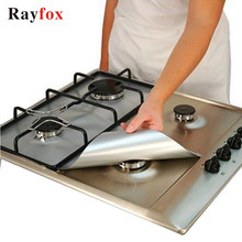 Rayfox Gas Stove Protectors 1pc Reusable Gas Stove Burner Cover Liner Mat Fire Injuries Protection Kitchen Accessories Gadgets F(China)