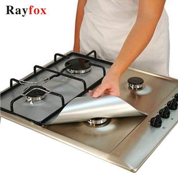Rayfox Gas Stove Protectors 1pc Reusable Gas Stove Burner Cover Liner Mat Fire Injuries Protection Kitchen Accessories Gadgets F
