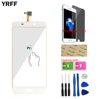 YRFF 5 5inch Phone Front Glass For Leagoo T5 Touch Screen Touch Digitizer Panel Glass Tools