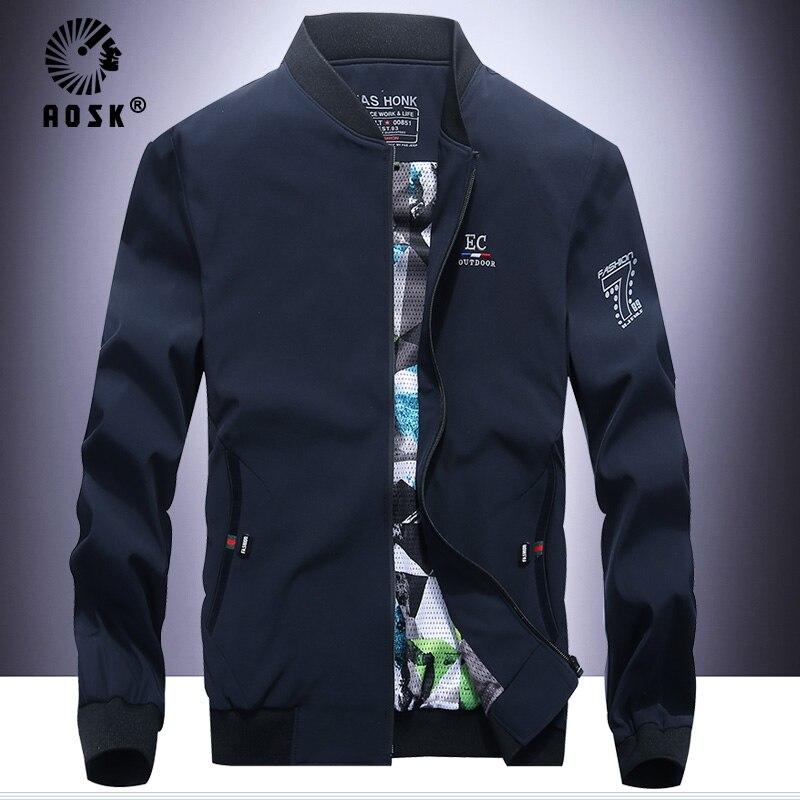 Aosk japon Style blouson aviateur hommes vêtements japonais Streetwear hommes veste manteau hommes vestes et manteaux
