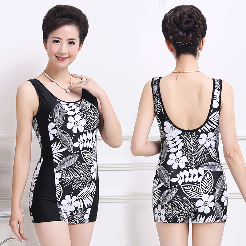 2017 Newest Plus Size One Piece Women Swimwear Push Up Print Female  Swimsuit Beachwear Backless Halter Vintage Swim Wear XL-5XL eab8cf77068b