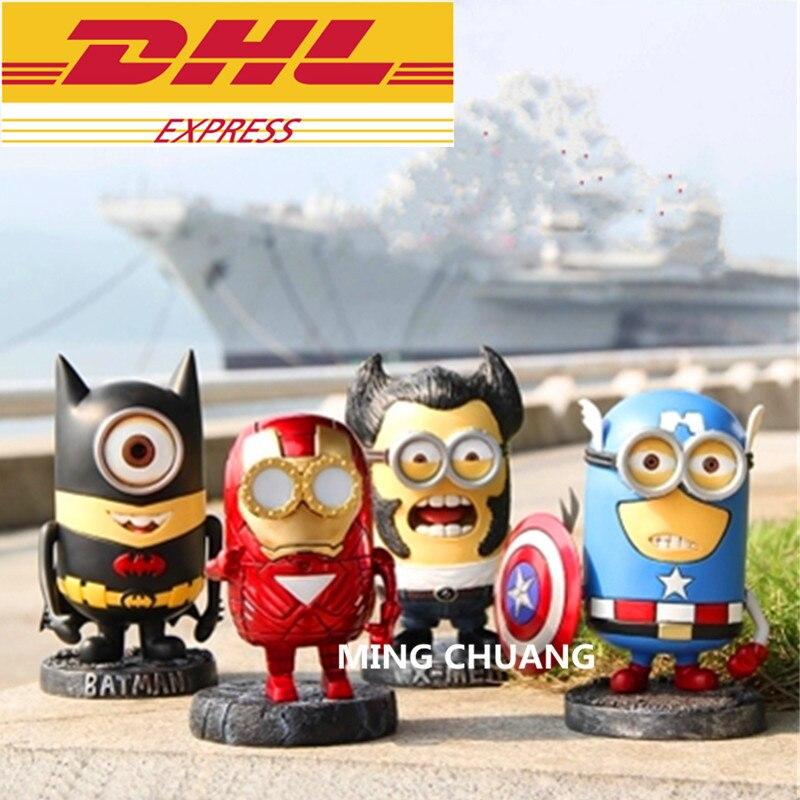 цена на Avengers Infinity War Q-Version Superhero Captain America Batman Wolverine Resin Action Figure Collectible Model Toy D269