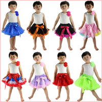 Girl Kids Clothing Birthday Party 2pc/set Cotton Tops+fluffy Tutu Skirt Pettiskirt Set For Christmas/halloween/easter/holiday