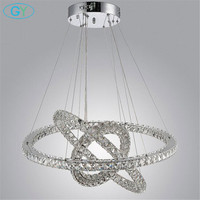 Modern Household Crystal Chandelier Pendant Lamps Fixture LED Ceiling Mounted Remote Controller Hanging Lamp GY YH