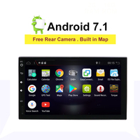 2din Car Radio Android 7.1 Universal GPS Navigation wifi Bluetooth Touch screen Car Audio Stereo RDS Car Multimedia radio Player