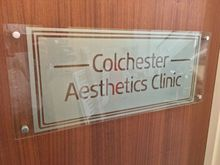 Customize MODERN CLEAR TEXT SILVER FROSTED BESPOKE SIGN PLAQUE DESIGN CUT OUT