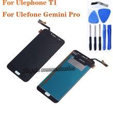 """5.5 """"עבור Ulefone T1 LCD תצוגה + מסך מגע digitizer עצרת מחליף את Ulefone תאומים Pro LCD ערכת תיקון + כלים"""