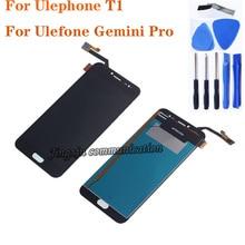"""5.5 """"ل Ulefone T1 شاشة الكريستال السائل + مجموعة المحولات الرقمية لشاشة تعمل بلمس يستبدل Ulefone الجوزاء برو LCD طقم تصليح + أدوات"""