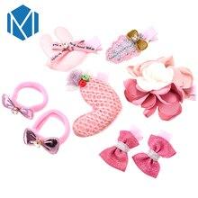 M MISM 8 Mix набор головных уборов для детей заколки для волос резинки для волос для девочек принцесса цветок мультфильм Животные волосы сцепление наборы аксессуаров для волос