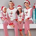 2016 Рождество Пижамы Семьи Сопоставления Одежда С Длинным Рукавом Мама и Дочь Отец Сына Семьи Одежда Пижама для Детей Взрослых