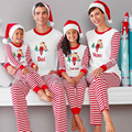 2016 Christmas Pajamas Family Matching Clothing Long Sleeve Mom and Daughter Dad Son Family Clothes Pyjamas for Children Adult