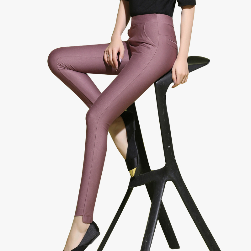 2017 spring gloss elastic pants casual skinny legging pants female 9323