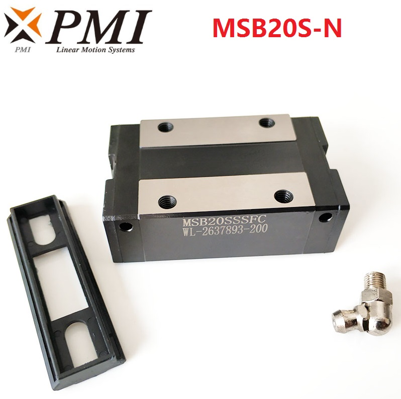 4pcs Original Taiwan PMI MSB20S MSB20S N MSB20SSSFC N linear guideway slide block Carriage for CO2