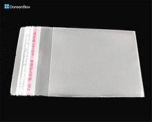 Doreen Box hot- 200 PCs Clear Self Adhesive Seal Plastic Bags 6x4cm (B04010)