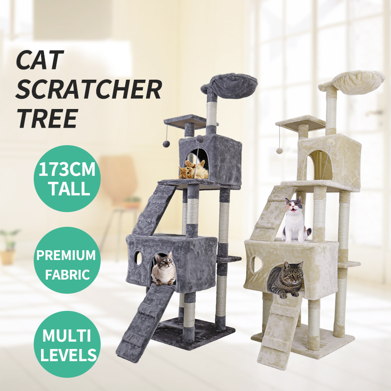 Domestic Delivery Large Cat High 175 cm Toy Cat House Tree Pet Furniture Scratched Woode ...