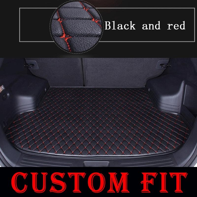 Custom fit car trunk mats for Jeep Cherokee Compass Patriot Grand Cherokee 2008 2015 2016 2017 car floor rear cargo liner mats-in Floor Mats from Automobiles & Motorcycles    2