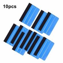 EHDIS 10pcs Carbon Fiber Soft Felt Squeegee Vinyl Film Car Wrap Application Scraper Window Tints Tools Household Cleaning Tools