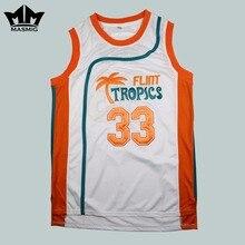 MM MASMIG Semi Pro Jackie Moon 33 Flint Tropics Basketball Jersey White Free Shipping S M L XL XXL XXXL