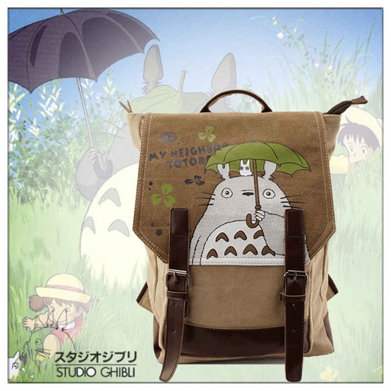 New Arrival Totoro Shoulders Bag Men's Casual Daypack Cartoon Cosplay Travel Bags Schoolbag Backpacks Mochila japan anime tokyo ghoul cosplay shoulders bag backpack cartoon schoolbag mochila unisex casual travel bags