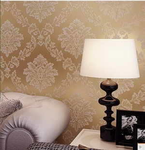 non-woven European luxury retro cubist flower wallpaper roll full living room, TV/sofa backgroud - Cici's Friends store