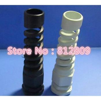 Range Bend proof cable glands PG9  nylon bending proof spiral cable gland For 4-8mm Range
