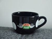 650ML Ceramic Coffee Cup Mug New Black Red Friends TV Show Series Central Perk