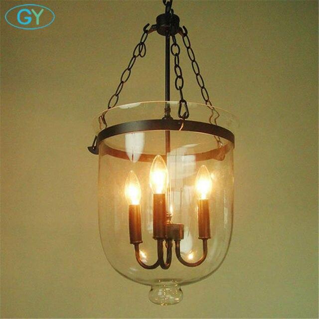 Online Shop AC100-240V Big Heavy Glass Lampshade Pendant lights ...