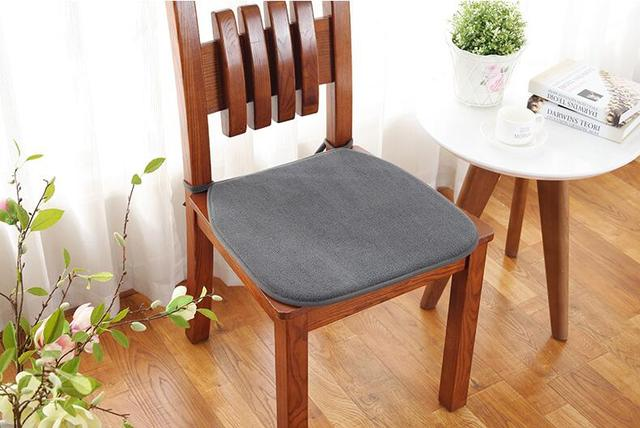 Thick Chair Cushions Dining Table 4 Chairs Set Fyjafon 2pcs Cushion Non Slip Soft Seat Pad Can Be Fixed On 40 40cm 45 45cm 50 50cm