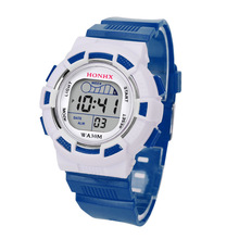 Honhx 2018 Sport Watches Kid Women Girl Boy Waterproof New Fashion Colorful Wrist Watch Men Silicone Led Light Digital Hot Sale