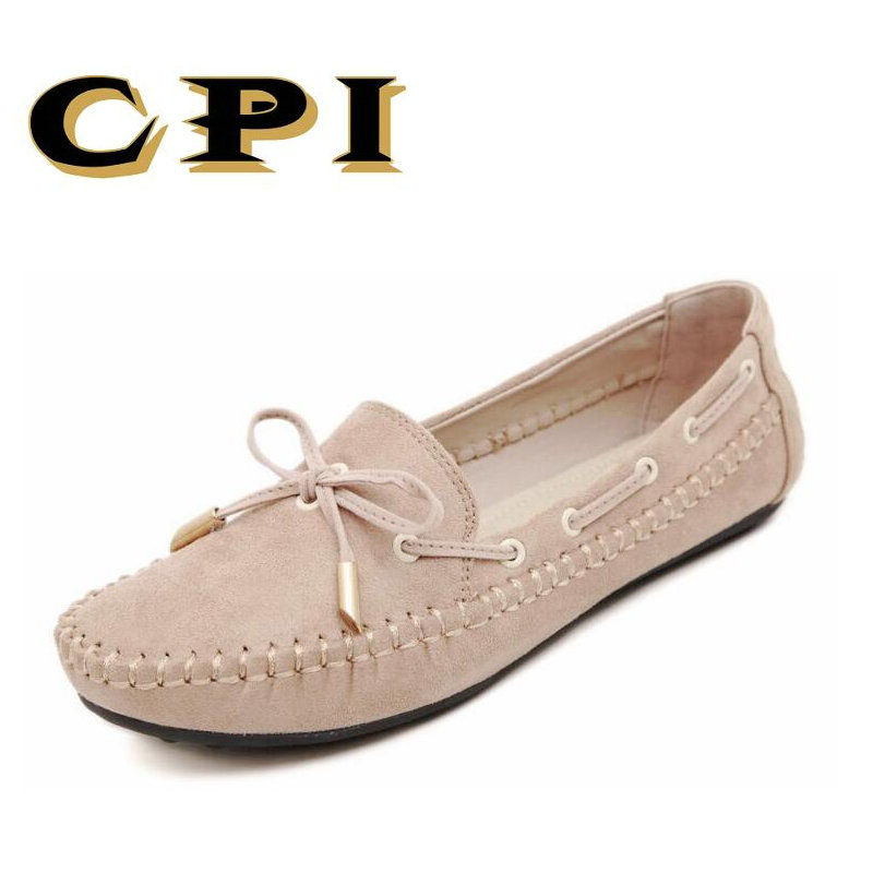 CPI Womens Flats Casual Bowtie Loafers Sweet Candy Colors Flats Solid Summer Shoes Woman Moccasins Female Footwear NN-021 plus size 34 41 black khaki lace bow flats shoes for womens ds219 fashion round toe bowtie sweet spring summer fall flats shoes