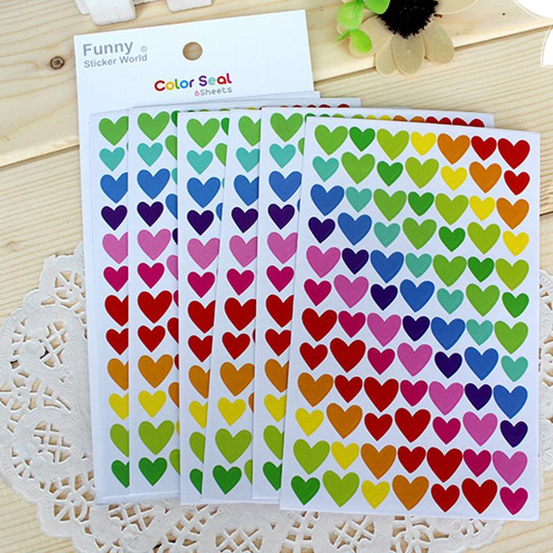 2015 Time-limited Real Adesivo De Parede Wall Stickers Colorful Rainbow Sticker Diary Planner Journal Scrapbook Albums Photo