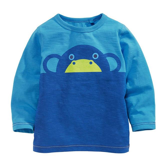 18m-6t years boys T-shirt Kids Tees Baby boy brand t shirts Children tees Long Sleeve 100% Cotton Cute animal shirts