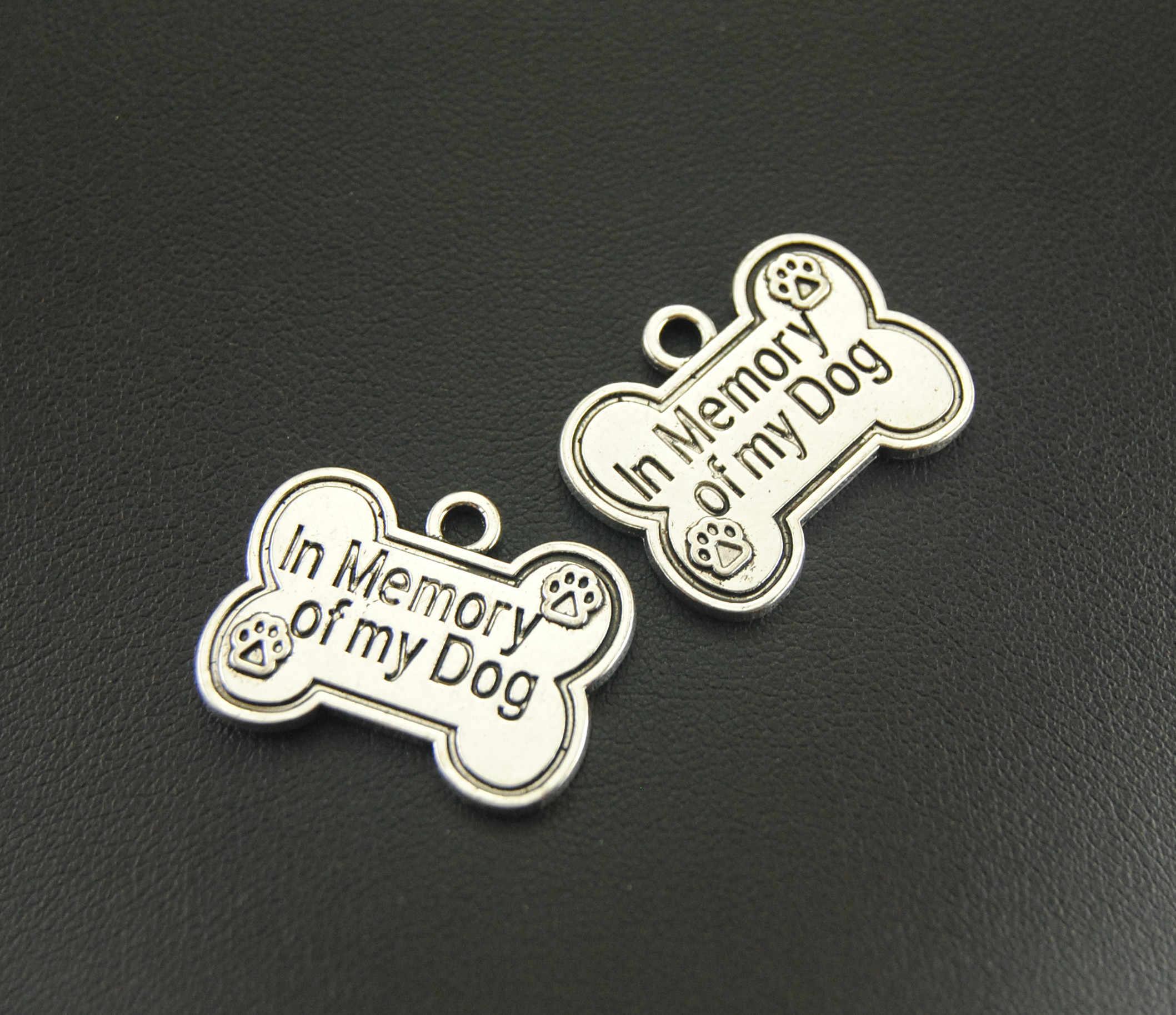 In Memory of my Dog Charm bone charm