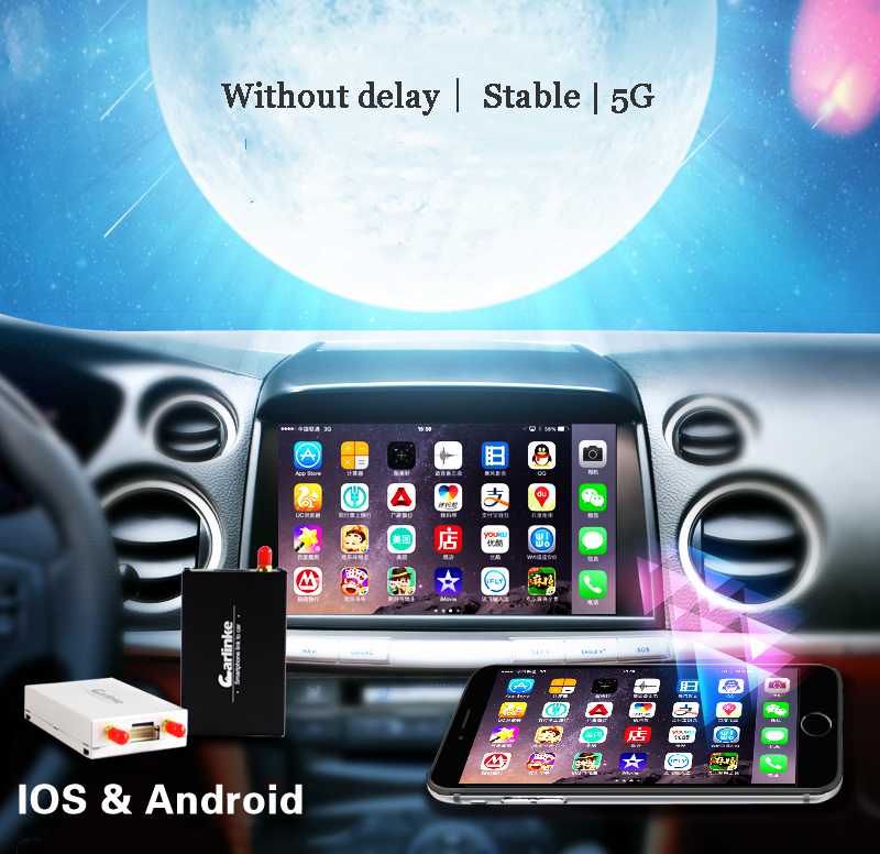 5G WiFi Display Smart Phone to Car Audio Via Airplay Mirroring Miracast DLNA Allshare Support IOS10