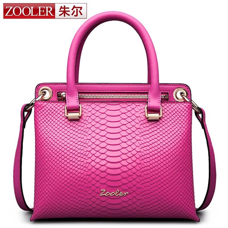 ZOOLER Genuine Leather Women Bag Famous Snake Genuine Leather Handbags Business Laptop Shoulder Bags Briefcase Messenger bag NEW