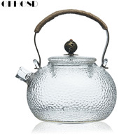 GFHGSD 650ml Japanese Heat resistant Glass Hand hammer Harp Pot Electric Ceramic Stove Brewing Tea Water Kettle Kung Fu Teapot