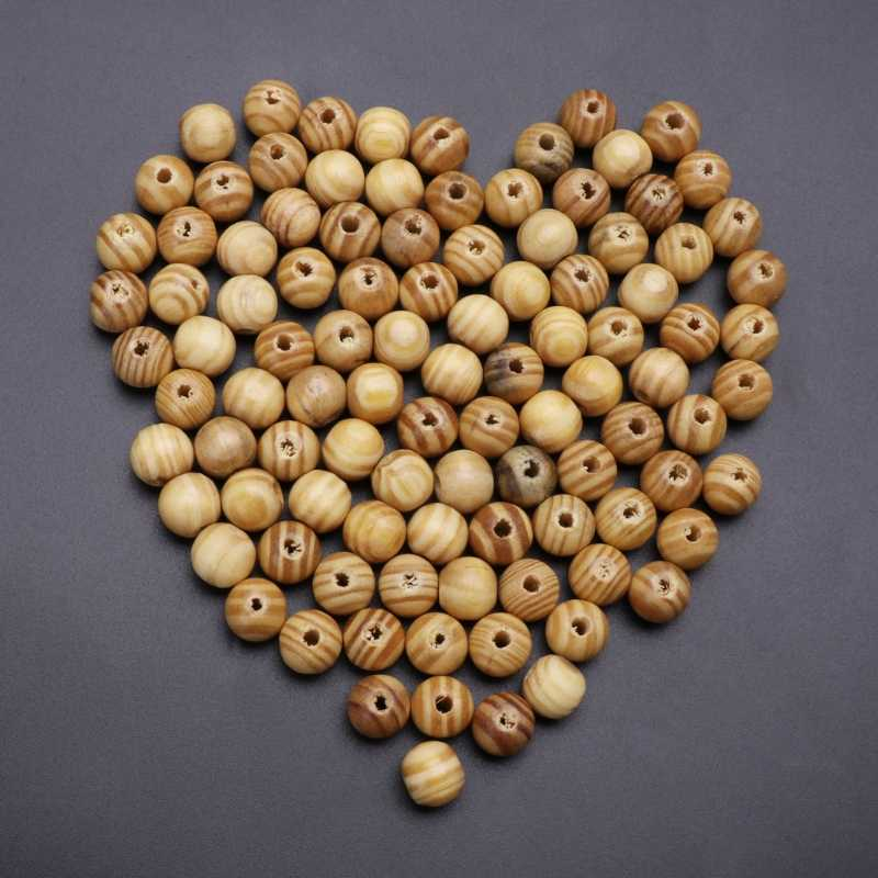 10/25/50/100pcs Wooden Spacers Loose Beads Necklace Jewelry Making Charms Findings Brown Wood Beads Craft Supplies