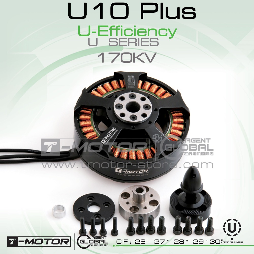 все цены на T-MOTOR professional U-POWER MOTOR U10 plus KV170 for rc plane professional drones;Brushless Motor онлайн